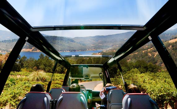 Retractable Roof Sprinter - Napa Bus Tours from San Francisco