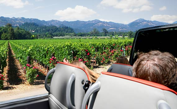 Open-Top Sprinter - Napa Bus Tours from San Francisco