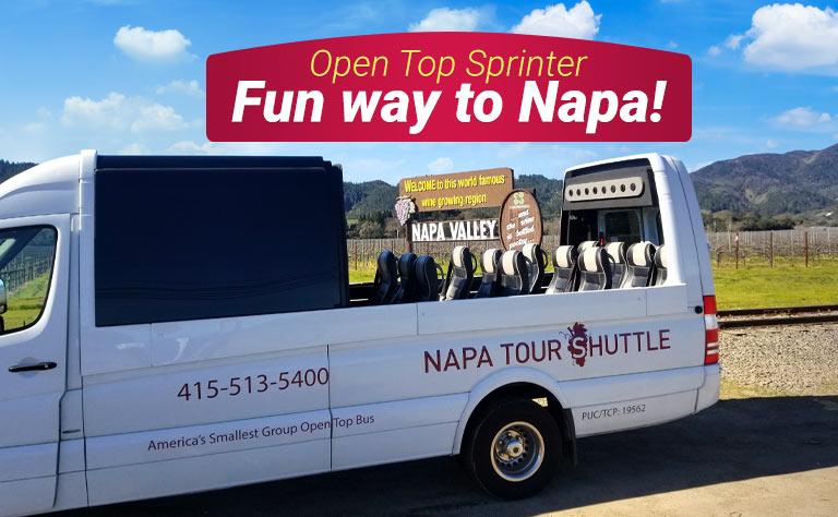 Napa Valley Open Top Sprinter Tour
