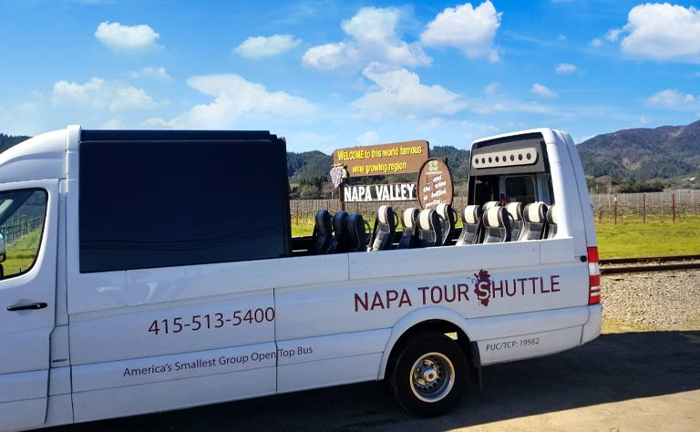Napa Valley Open Top Sprinter Tour - From Napa